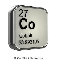 3D, cobalto, elemento