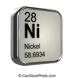 3d Nickel element - 3d render of Nickel element design
