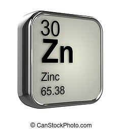 3d Zinc element - 3d render of Zinc element design