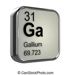 3d Gallium element - 3d render of Gallium element design