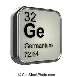 3d Germanium element - 3d render of Germanium element design