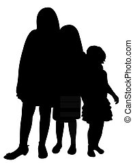 three sisters together silhouette