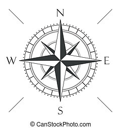 Compass - Compas on the white background