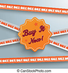 Clipart Vector of buy it now illustration design seal over a white ...
