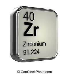 3d Zirconium element design - 3d render of Zirconium element...