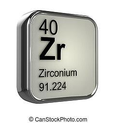 3d Zirconium element design - 3d render of Zirconium element...