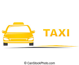 taxi and blank place