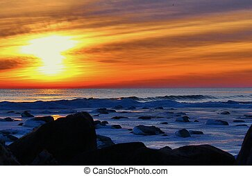 Great Lakes Glacier - Sunrise over the frozen Great Lakes...