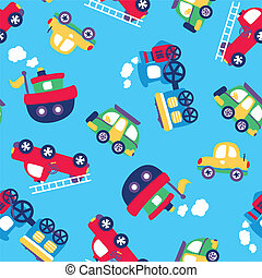 Little transport seamless pattern