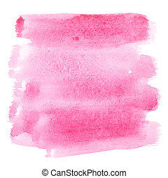 Watercolor brush strokes - Pink watercolor brush strokes -...