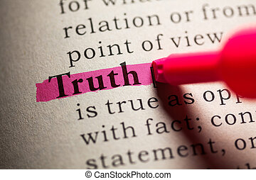 Truth - Fake Dictionary, definition of the word truth
