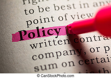 Policy - Fake Dictionary, definition of the word policy.