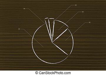 business stats: pie chart graph