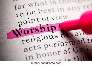worship - Fake Dictionary, definition of the word worship