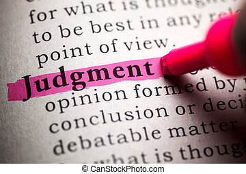 judgment - Fake Dictionary, definition of the word judgment