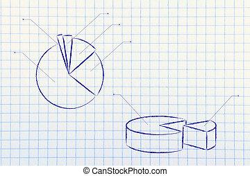 empresa / negocio, stats:, Pastel, gráfico,...
