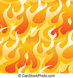 Bright orange flames. - Bright orange flames in a seamless...