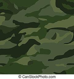 Khaki camouflage pattern - Khaki camouflage seamless pattern