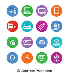 Office electronics icons