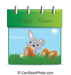 Monthly calendar for 2014 - April in editable vector format
