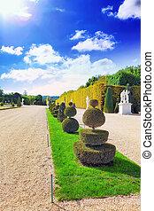 VERSAILLES FRANCE - SEPTEMBER 21 Beautiful garden...