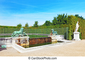 VERSAILLES FRANCE - SEPTEMBER 21 Beautiful garden...