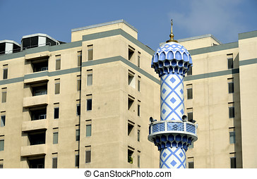Mosque in residential district of Dubai, United Arab...