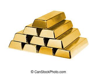 stack of gold ingots for your designs