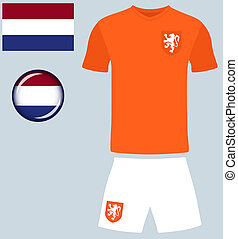 Holland Football Jersey - Abstract vector image of the Dutch...