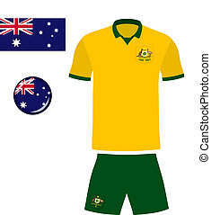 Australia Football/Soccer Jersey - Abstract vector image of...