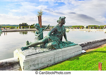 VERSAILLES FRANCE - SEPTEMBER 21 Pond in front of the Royal...