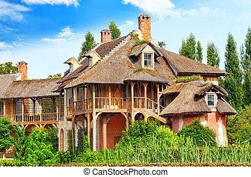 VERSAILLES FRANCE - SEPTEMBER 21 Marie Antoinette House-ferm...