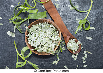 Tarragon (dried) - Portion of dried Tarragon (high detail...