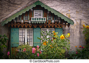 Little house, Altstadt-Lehel, Munich, Bavaria, Germany,...