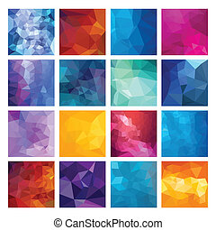 Polygonal vector background - Abstract Geometric backgrounds...