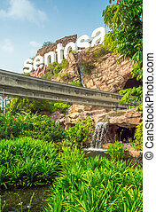 Entrance of Sentosa - SENTOSA SINGAPORE - March 08 Entrance...