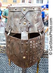 Armor at Medieval festival, Brasov - Medieval armor at...