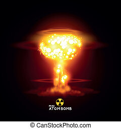 Mini Atom Bomb - Vector illustration nuke