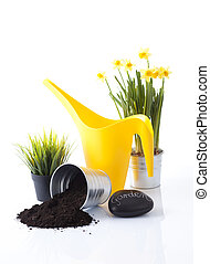 jardinería, herramientas