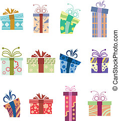 Collection of present boxes