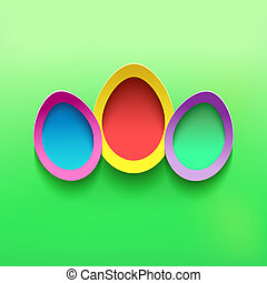 Festive background with three Easter egg