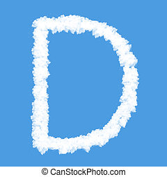 abc cloud icon with design on blue sky background