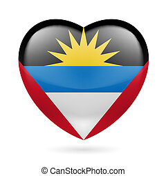 Heart icon of Antigua and Barbuda - I love Antigua and...