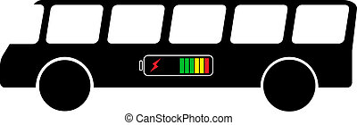 bus on electricity isolated vector