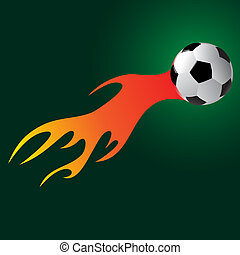 soccer ball with flame