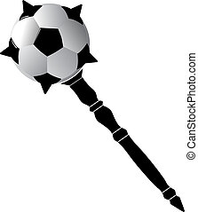 soccer ball as mace vector