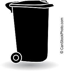 recycler, déchets, boîte