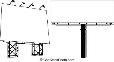 Billboard Outdoor Advertising Vector illustration