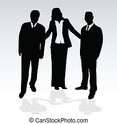 business people - conceptual vector illustration