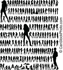 Big collection - fashion womens,vector